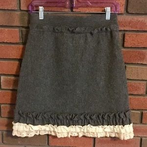 Anthropologie Girls from Savoy Tria Sweater Skirt